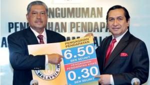 Agihan Pendapatan Amanah Saham Malaysia (ASM) 6.80 Sen