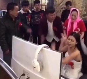 Pengantin Perempuan di China Diseret Sebab Gila Game Online