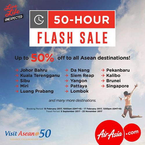 Kempen Visit Asean@50 AirAsia Tawar Diskaun 50 Peratus