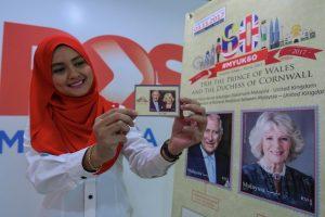 Setem Pos Malaysia Wajah Putera Wales dan Duchess Of Cornwall