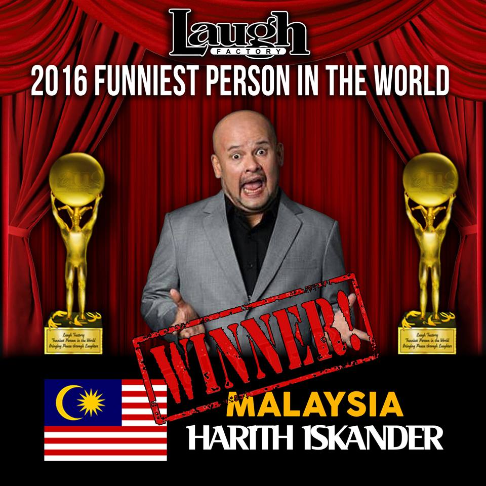 Pelawak Harith Iskander Juara Funniest Person In The World 2016